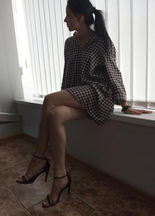 Удлиненная рубашка платье h&m