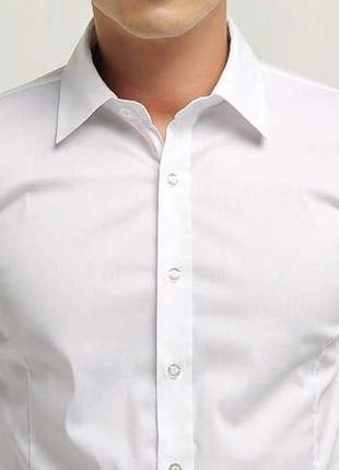 Шикарная брендовая белая рубашка ! классическая белая рубашка ! venti оригинал