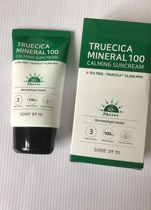Some by mi truecica mineral 100 calming suncream минеральный солнцезащитный