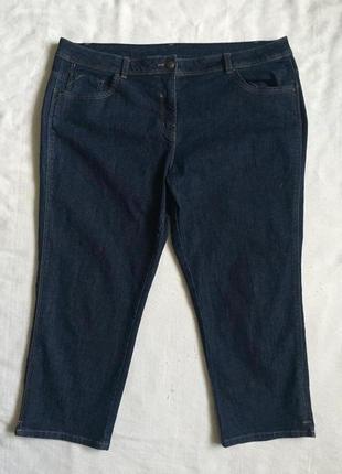 Супер джинсы укороченные бриджи стреч  3xl (54)
