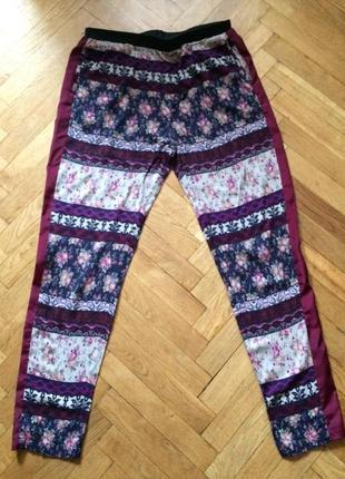 Летние брюки,зауженные,с лампасами,высокая талия из германии