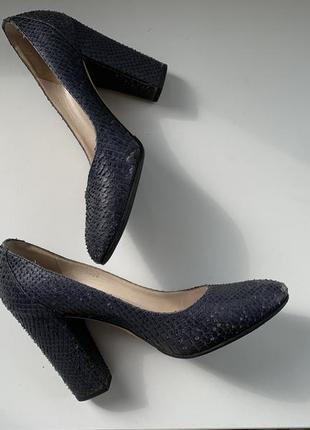 Туфли змея кожа christian dior