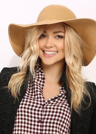 Плетёная, соломенная шляпа