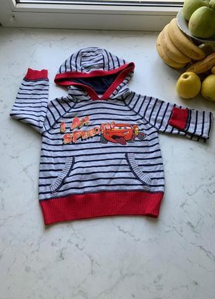 Стильный яркий свитер толстовка disney at george на 1.5-2 года