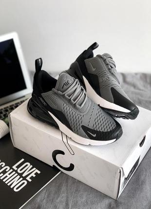 Шикарные женские кроссовки nike air max 270 grey black