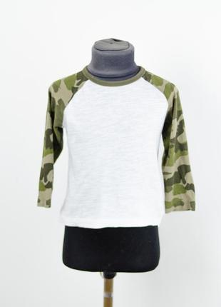 Next легкий белый реглан с контрастными рукавами,легкая футболка с длинным рукавом