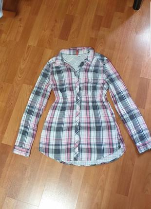 Хлопковая рубашка на подкладке