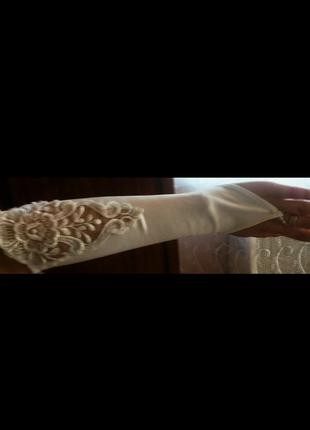 Перчатки под свадебное платье