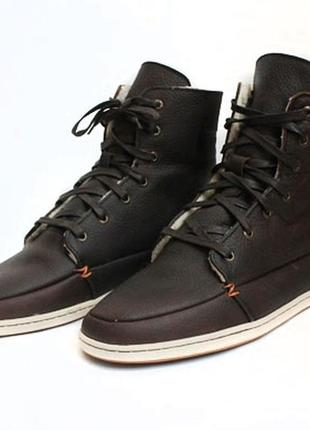 Зимние кожаные ботинки hub. размер 43