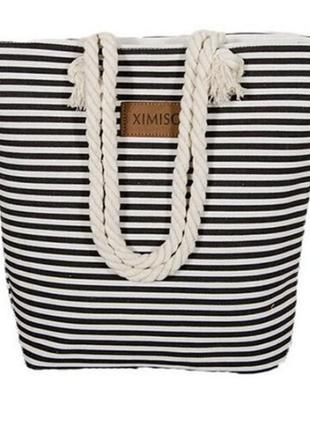 Пляжная сумка. пляжная сумка в полоску