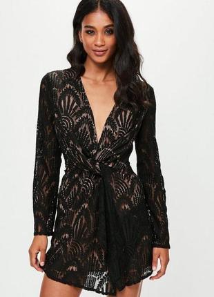 Красивое гепюровое платье от missguided