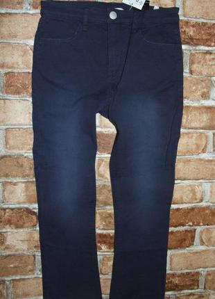 Новые синие стрейч джинсы 9-10 лет