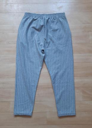 Трикотажные брюки штаны colin's серого цвета в белую полоску2 фото