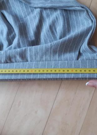 Трикотажные брюки штаны colin's серого цвета в белую полоску6 фото