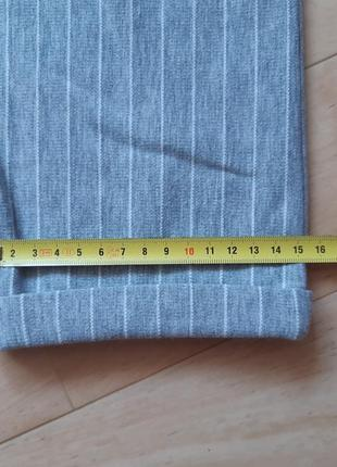 Трикотажные брюки штаны colin's серого цвета в белую полоску10 фото
