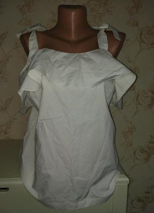 Шикарная коттоновая блуза футболка next