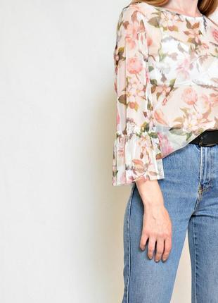 Блуза сеточка в цветочный принт
