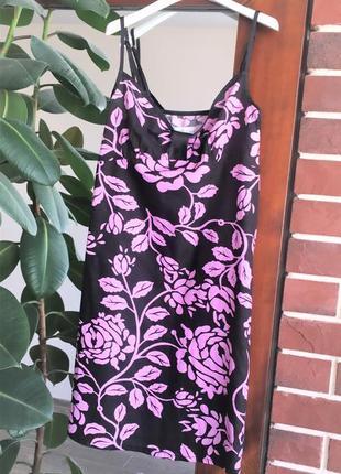 Хлопковое платье в цветы per una m&s