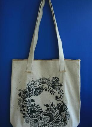 Сумка шоппер, пляжная сумка , эко-сумка, текстильная сумка.
