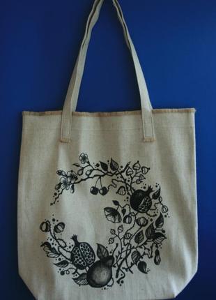 Сумка шоппер, пляжная сумка, эко сумка, текстильная сумка.