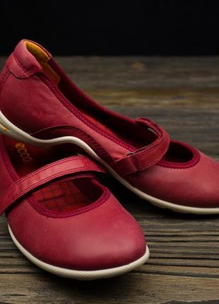 Женские кожаные балетки ecco soft 5 оригинал р-36