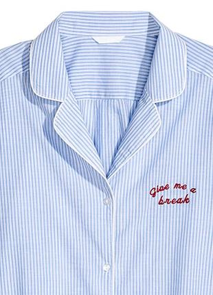 Оригинальная пижамная рубашка от бренда h&m разм. s2 фото