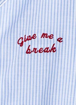 Оригинальная пижамная рубашка от бренда h&m разм. s4 фото