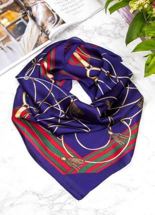 Шелковый платок с принтом кисти