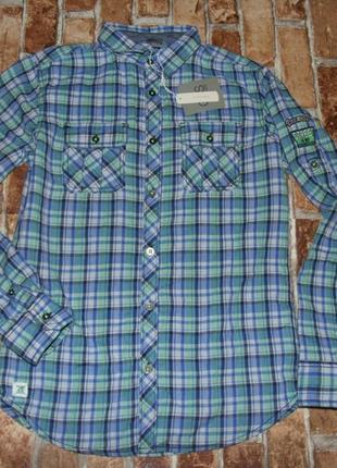 Легкая хлопковая рубашка 13-14 лет