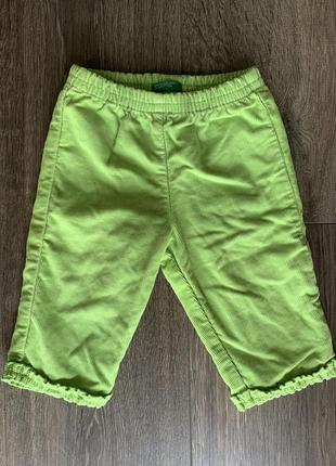 Вельветовые штанишки на малыша 3-6 месяцев штаны брюки benetton вельвет