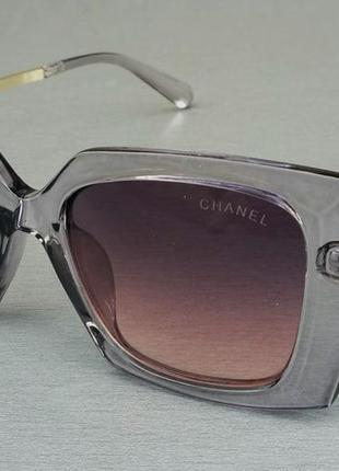 Chanel очки женские солнцезащитные в прозрачной серой оправе