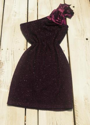 Нарядное блестящее платье,xs