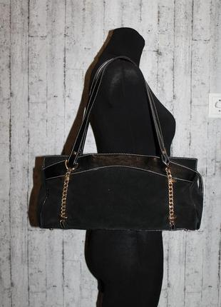 Интересная замшевая/кожаная сумка marina made in italy