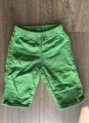 Вельветовые штанишки на малыша 1-3 месяцев штаны брюки вельвет benetton
