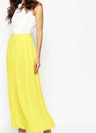 Тренд 2019 ярко желтая длинна юбка