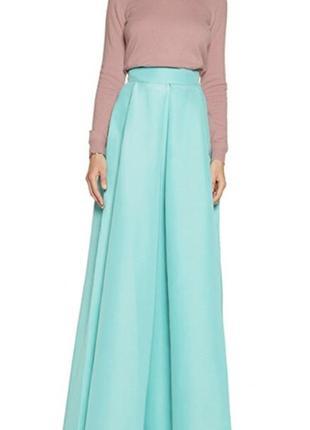 Летняя яркая юбка цвета тиффани