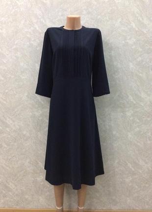 Платье миди  синее john lewis