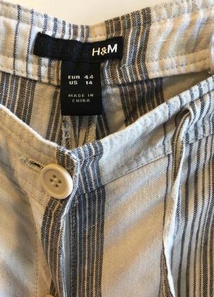 Трендовые льняные брюки в пижамном стиле