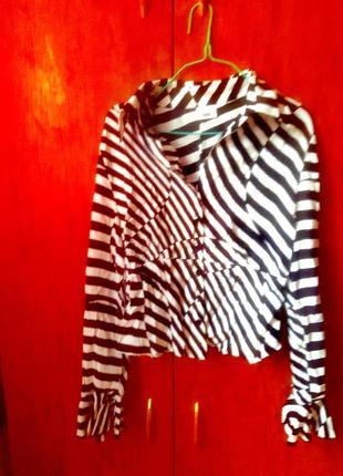 Сорочка в стилі зебра.