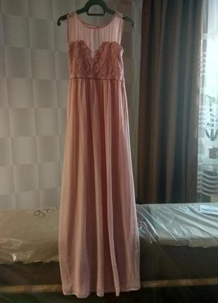 Вечернее платье. vila / хs/s / нежно-розовое