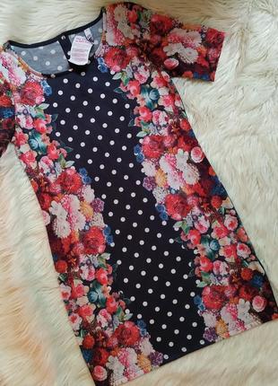 Очень классное платье цветы, в горох , принт