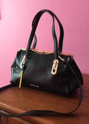 Шикарная сумка cromia кожа сафьяно оригинал шкіра