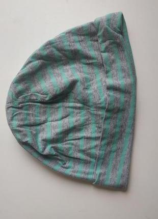 Двойная трикотажная шапка на ребенка 8-11 лет 134-146 см
