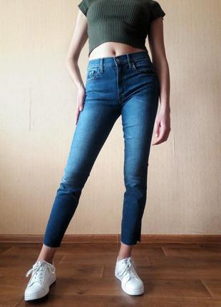 Распродажа! укороченные джинсы с высокой посадкой от gap