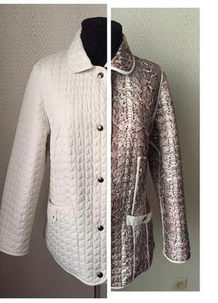 Оригинальная стёганая двухсторонняя куртка большого размера (нем 46, укр 52-54)