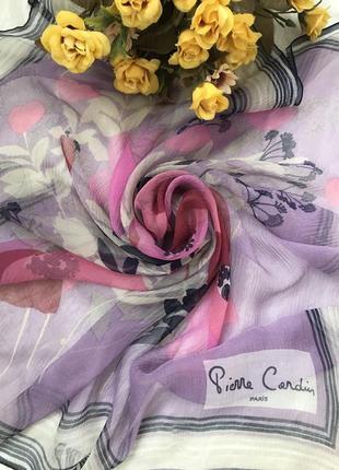 Нежный 💕💕💕 шелковый платок pierre cardin