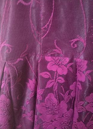 Фиолетовое нарядное корсетное платье на праздник новый год держит форму debenhams р 10 m5 фото