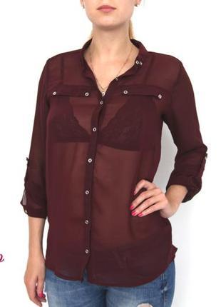 Блуза цвета бургундий от atmosphere