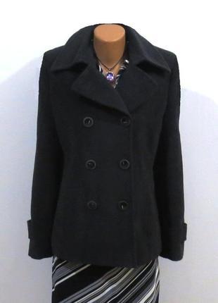 Роскошное шерстяное пальто от your face размер: 48-l