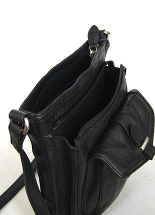 Clarks. кожаная сумка через плечо. кроссбоди8 фото